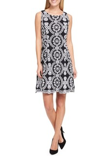 Tommy Hilfiger Embroidered Cotton Fit-and-Flare Dress