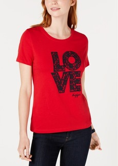 """Tommy Hilfiger Embroidered """"Love"""" T-Shirt, Created for Macy's"""