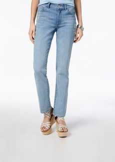 Tommy Hilfiger Embroidered Straight-Leg Jeans, Created for Macy's