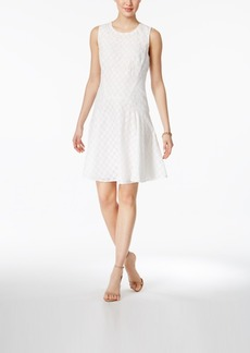 Tommy Hilfiger Eyelet Lace Fit & Flare Dress