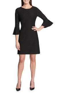Tommy Hilfiger Eyelet Stretch Bell-Sleeve Dress