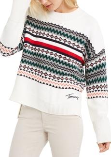 Tommy Hilfiger Fair Isle Drop-Shoulder Sweater, Created For Macy's