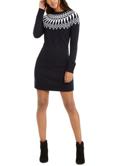 Tommy Hilfiger Fair Isle Sweater Dress, Created For Macy's