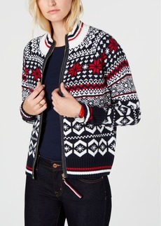 Tommy Hilfiger Fair Isle Zip-Up Sweater, Created for Macy's
