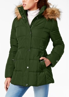 Tommy Hilfiger Petite Faux-Fur-Trim Hooded Puffer Coat