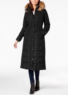 Tommy Hilfiger Faux-Fur-Trim Maxi Puffer Coat