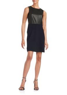 Tommy Hilfiger Faux-Leather Sleeveless Sheath Dress