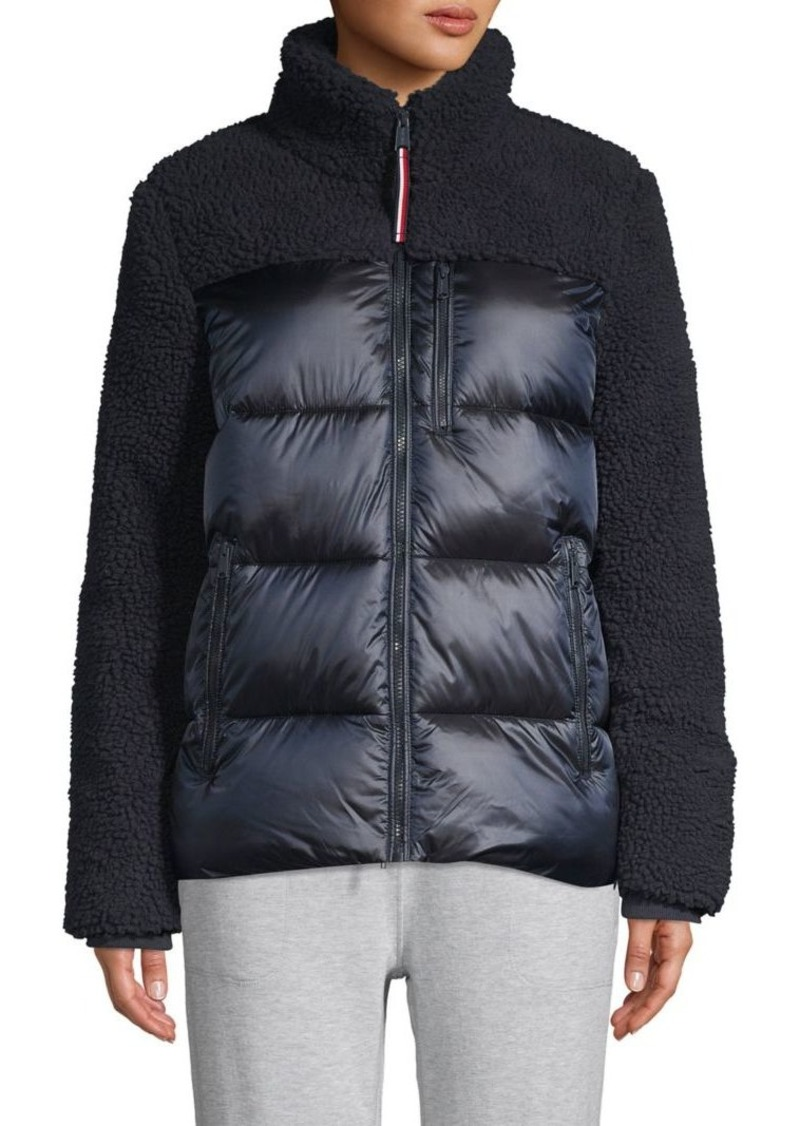 Tommy Hilfiger Faux Shearling-Trim Mixed-Media Coat