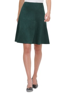 Tommy Hilfiger Faux-Suede A-Line Skirt