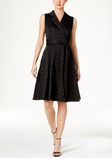 Tommy Hilfiger Faux-Wrap A-Line Dress