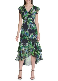 Tommy Hilfiger Fiji Floral High-Low Midi Dress