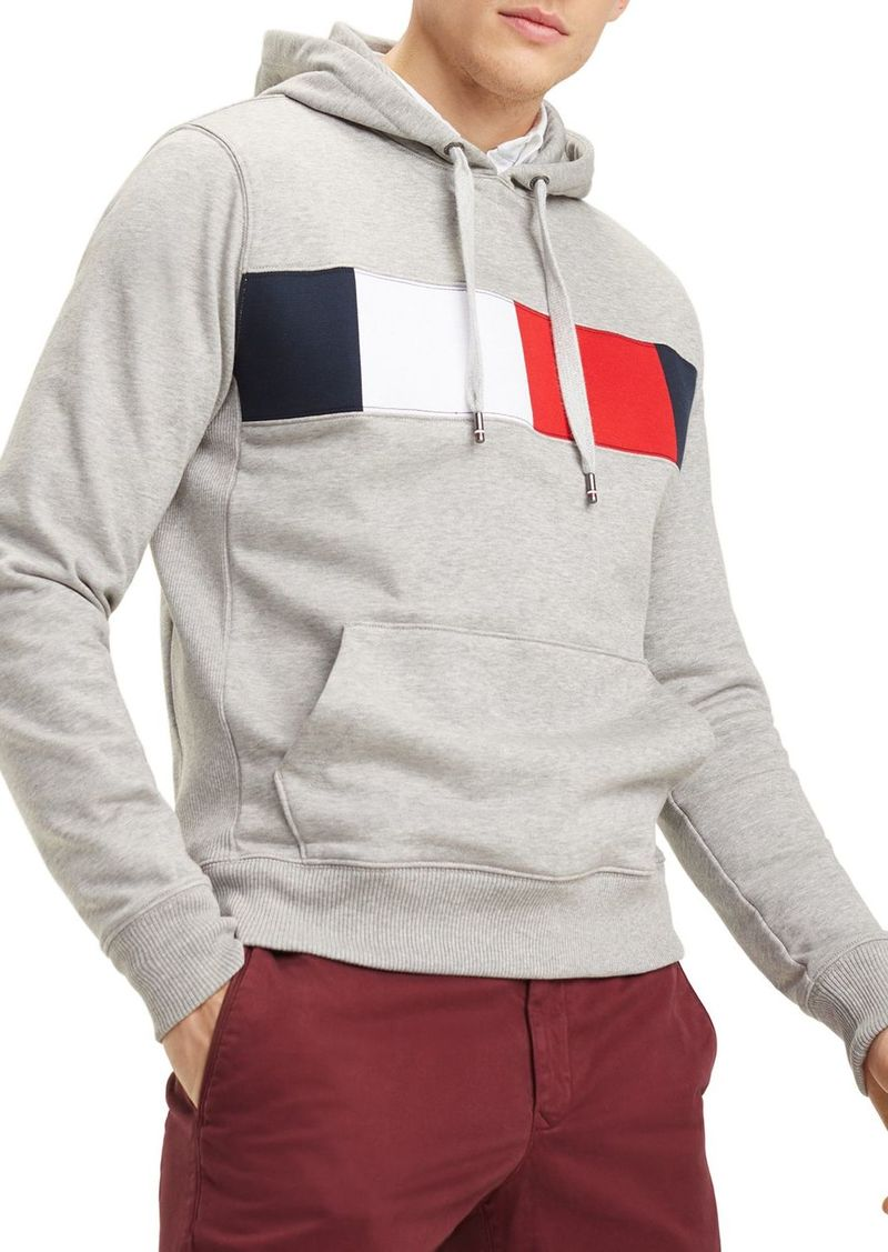 Tommy Hilfiger Flag-Stripe Graphic Hooded Sweatshirt