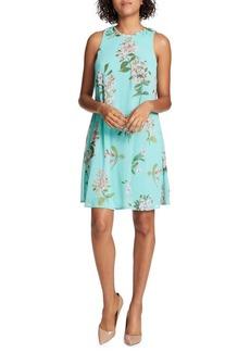 Tommy Hilfiger Floral Chiffon Trapeze Dress