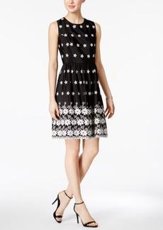 Tommy Hilfiger Floral-Embroidered Fit & Flare Dress