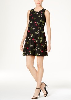 Tommy Hilfiger Floral Embroidered Shift Dress