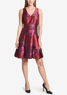 Tommy Hilfiger Floral Jacquard Fit & Flare Dress