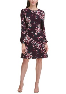 Tommy Hilfiger Floral Jersey A-Line Dress