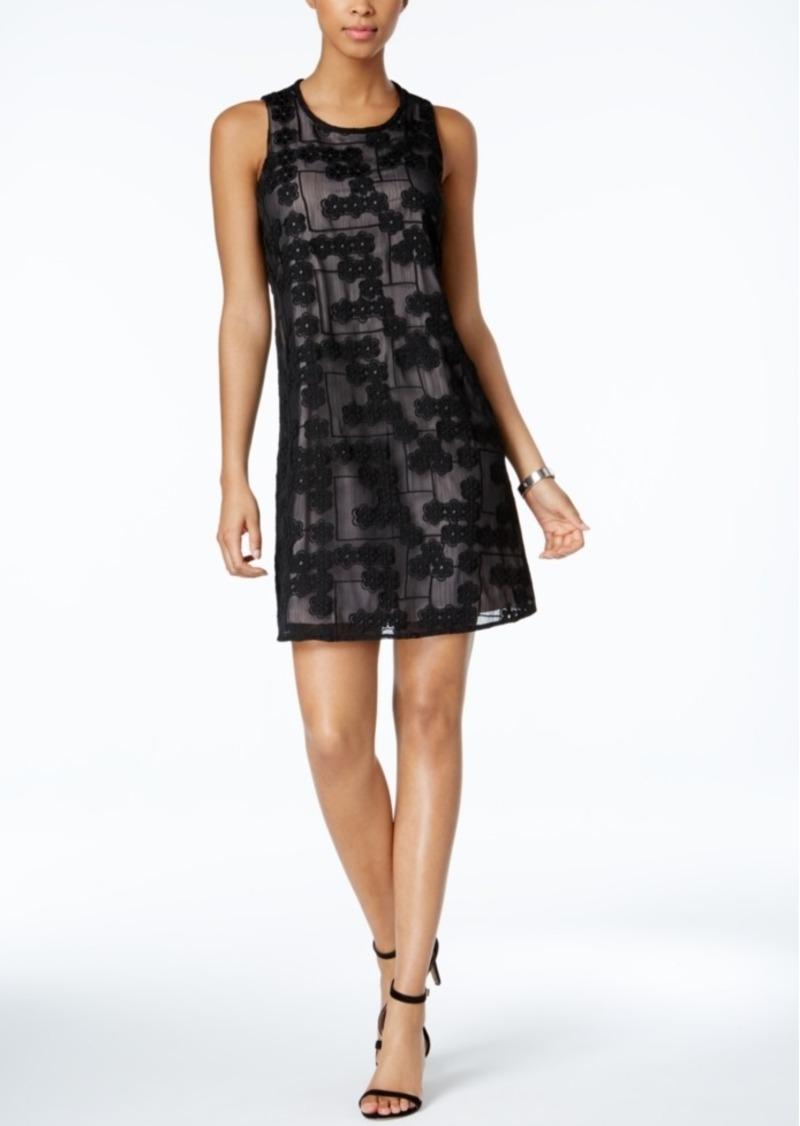 Tommy Hilfiger Floral-Lace Shift Dress