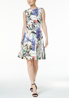 Tommy Hilfiger Floral-Print A-Line Dress