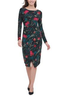 Tommy Hilfiger Floral-Print Asymmetrical Jersey Dress