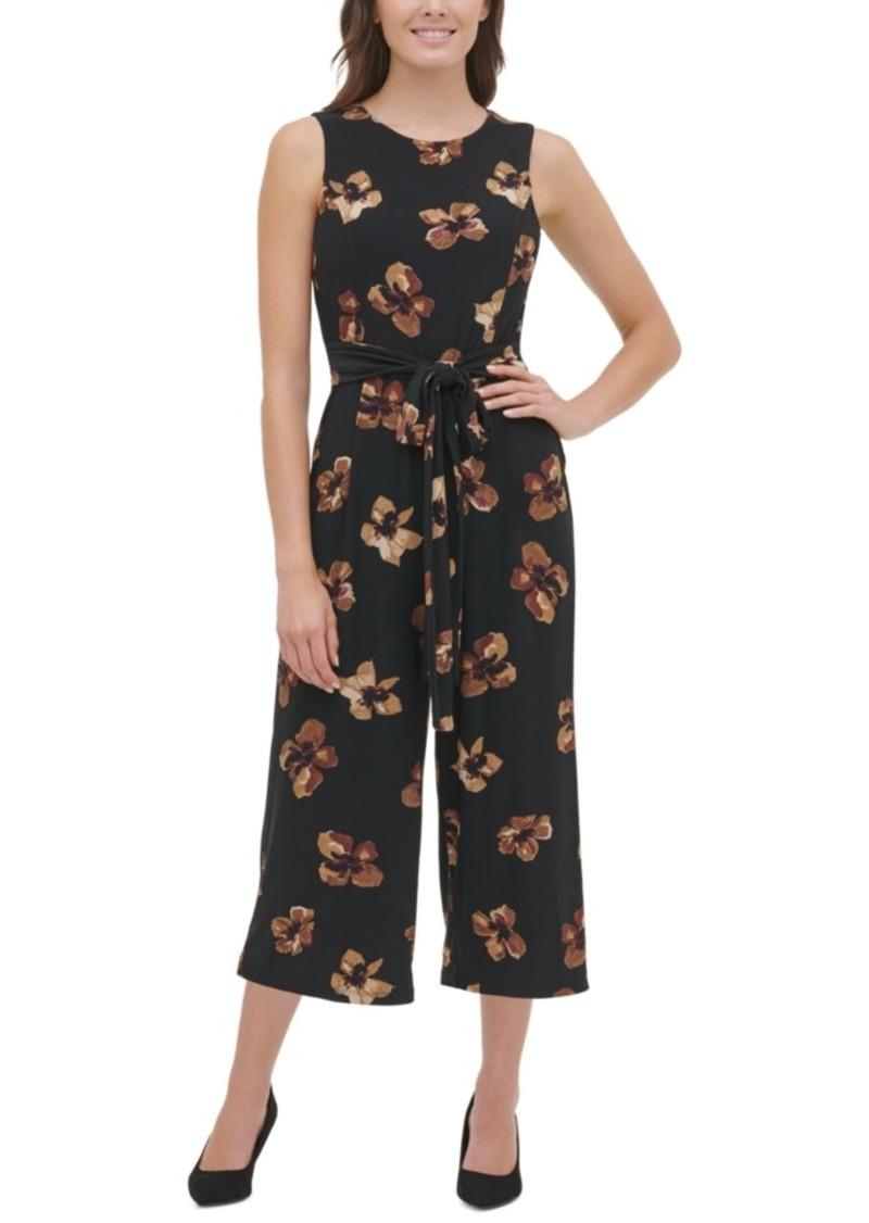 Tommy Hilfiger Floral-Print Cropped Jumpsuit