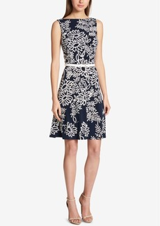 Tommy Hilfiger Floral-Print Fit & Flare Dress
