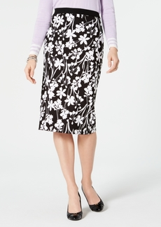 Tommy Hilfiger Floral-Print Pull-On Skirt, Created for Macy's