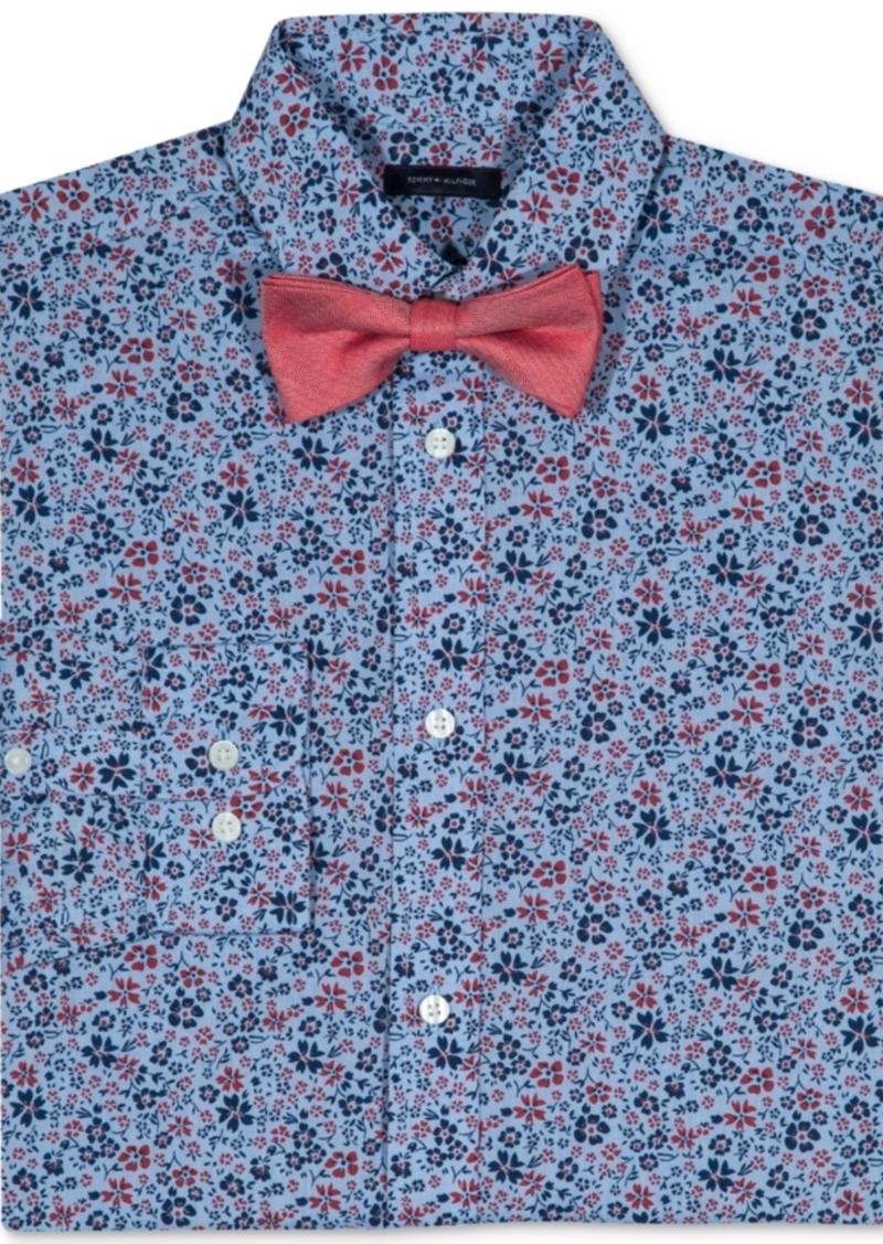 277c0d851 Floral-Print Long Sleeve Shirt & Bowtie, Big Boys. Tommy Hilfiger