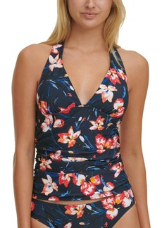 Tommy Hilfiger Floral-Print Tankini Top Women's Swimsuit