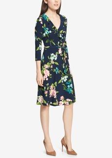 Tommy Hilfiger Floral-Print Wrap Dress