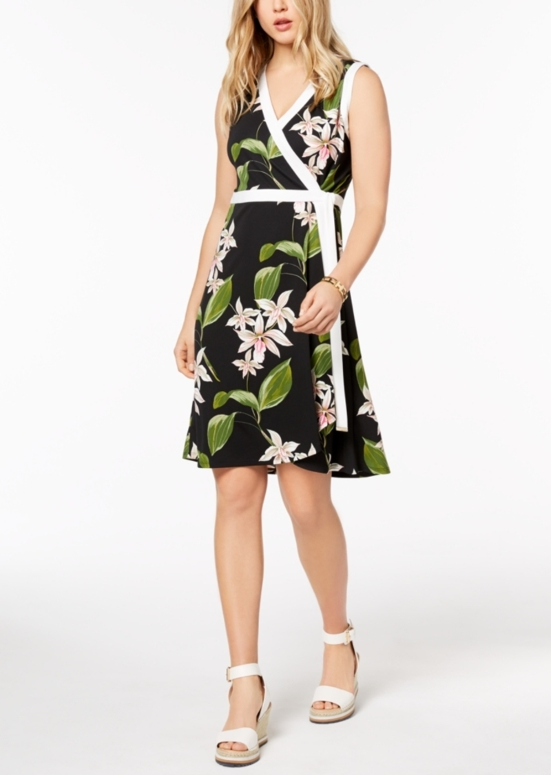 Tommy Hilfiger Tommy Hilfiger Floral-Print Wrap Dress, Created for ...