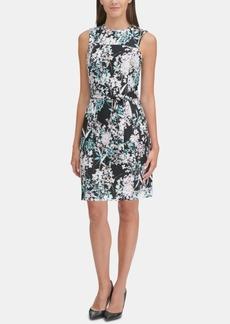 Tommy Hilfiger Floral Sash-Belt Scuba Dress