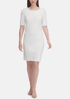 Tommy Hilfiger Floral-Textured Sheath Dress