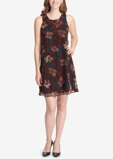 Tommy Hilfiger Floral Velvet Shift Dress