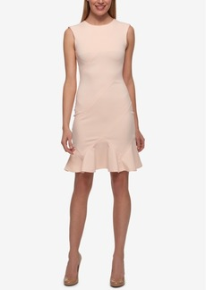 Tommy Hilfiger Flounce-Hem Sheath Dress