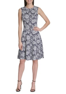 Tommy Hilfiger Flower Power Knit Fit-&-Flare Dress