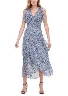 Tommy Hilfiger Flutter-Sleeve Midi Dress