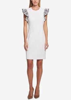 Tommy Hilfiger Flutter-Sleeve Sheath Dress
