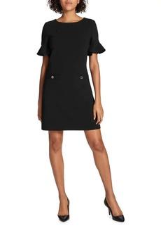 Tommy Hilfiger Flutter-Sleeve Two-Pocket Shift Dress