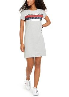 Tommy Hilfiger Foil Graphic-Print T-Shirt Dress