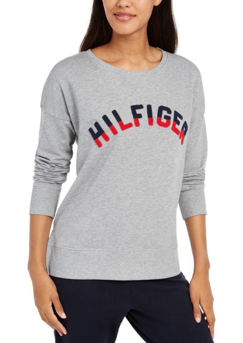 Tommy Hilfiger French Terry Colorblocked Logo Pajama Top