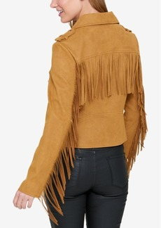 Tommy Hilfiger Fringe Moto Jacket, Created for Macy's