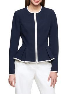 Tommy Hilfiger Front-Zip Peplum Jacket