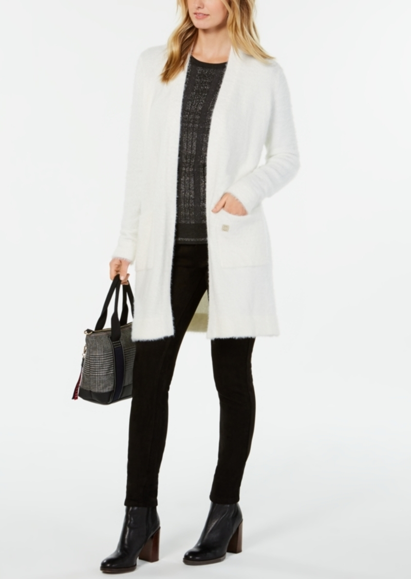 aa8a2847c0 Tommy Hilfiger Tommy Hilfiger Fuzzy Open-Front Cardigan
