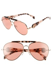 Tommy Hilfiger Gigi 58mm Aviator Sunglasses