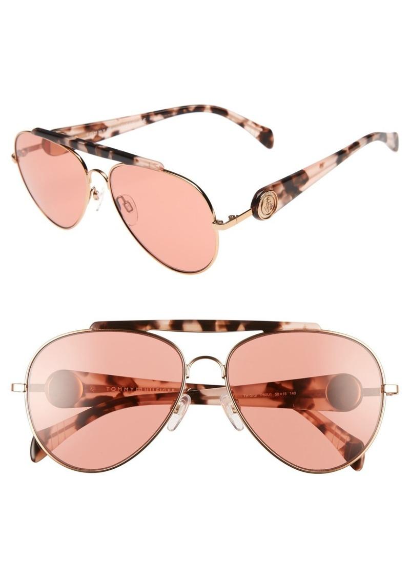 Tommy Hilfiger Gigi 58mm Aviator Sunglasses