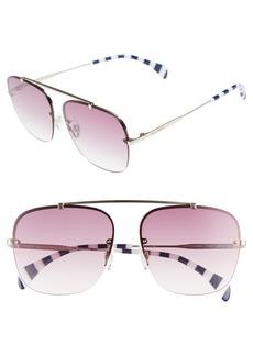 Tommy Hilfiger Gigi 59mm Gradient Lens Brow Bar Navigator Sunglasses