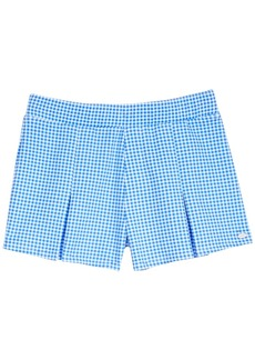 Tommy Hilfiger Gingham Pleated Ponte-Knit Shorts, Big Girls (7-16)