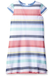 Tommy Hilfiger Girls' Big Shift Printed Lace Dress  S