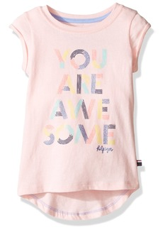 Tommy Hilfiger Girls' Toddler Awesome Graphic Tee